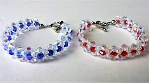 beaded bracelet crystal images Tutorial on making a stunning beaded bracelet with bicone beads jpg