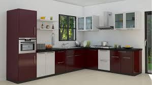Kitchen Oven Cabinets Kitchen Design L Shape Wall Ceramic Tiles Texture Light White