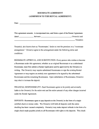 free roommate agreement template roommate agreement forms and templates fillable u0026 printable