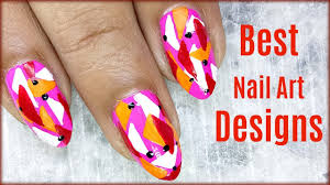 nail art designs easy to do at home step by step youtube