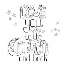 love you to the moon and back u2014 stock vector maroshka 93763408