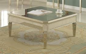 mirrored end table set mirror coffee table set t1830