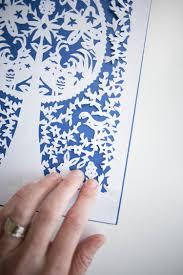 folk art paper cut diy with printable spring pattern live free