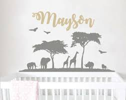 Safari Nursery Wall Decals Safari Wall Decal Etsy