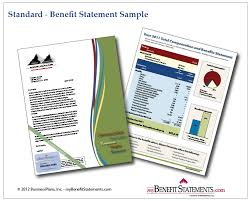 total compensation statement template sample total rewards