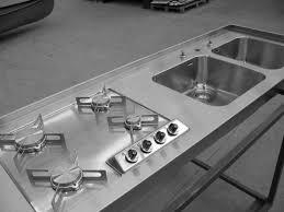 piano cottura a filo piano cottura alpes inox saldato a filo piano e vasche photo