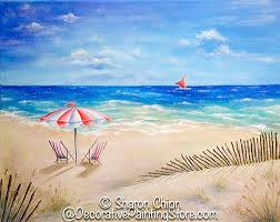 Beach Umbrella And Chairs 16