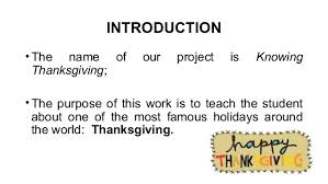 projeto knowing thanksgiving