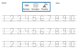 number formation practice dotted 1 10 by dr dig teaching