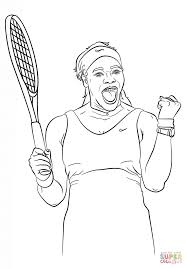 serena williams coloring page free printable coloring pages
