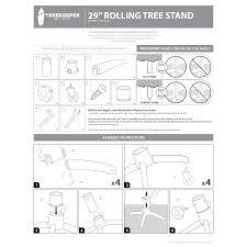 rolling tree stand lighting treekeeper santas bags
