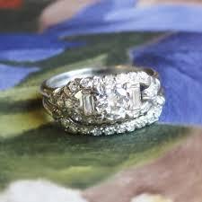 vintage art deco 1930 u0027s 81ct t w rare engagement wedding ring