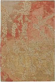 Modern Orange Rug Blossom Design Rug N11058 By Doris Leslie Blau