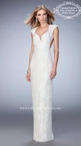 la femme prom dress 22735 white gold size 10