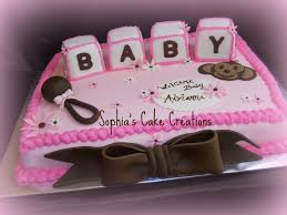 pink and brown baby shower sheet cakes baby shower decoration