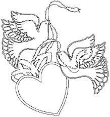 imprime le dessin à colorier de coeur
