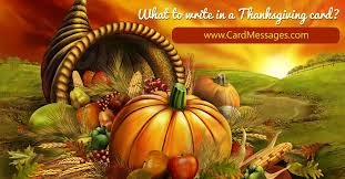 what to write in a thanksgiving card card messages