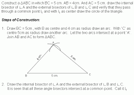 construction 5 excircle middle high algebra geometry