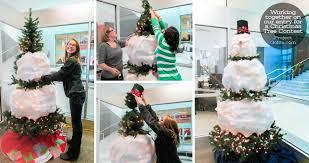 snowman christmas tree a green christmas tree some creativity a white snowman