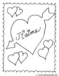 french valentine coloring page create a printout or activity