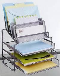 Desk Mail Organizer Mesh Desk Office Supplies Mail Organizer 5 Tiered 3 Tray Wire File