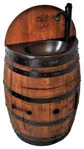Copper Bathroom Vanity by French Oak Half Wine Barrel Bathroom Vanity Table With Integrated