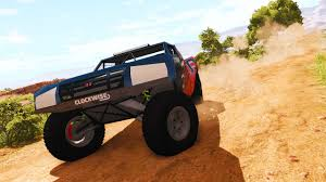 rally truck racing awesome trophy truck beamng drive rg trophyt car mod youtube