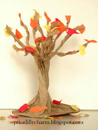 pikadilly charm paper bag fall tree but collect and make with