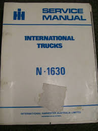 international harvester n1630 truck service repair manual 30347