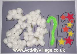 New Year Decorations Preschool by New Year Collage Craft For Kids