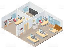 isometric floor plan isometric office stock vector art 165744892 istock