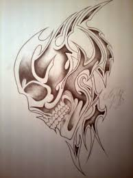 tribal skull by tomjl94 on deviantart