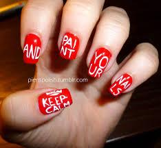 British Flag Nails Nail Art à La Pien