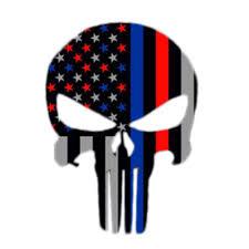 American Flag Skull 1pcs Police Officer Thin Blue Line American Flag Vinyl Decal Car