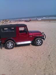 mahindra thar crde 4x4 ac hyd to the closest beach tharred mahindra thar crde team bhp