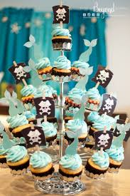 mermaid tails and pirate sails cupcake toppers made by details