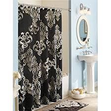 White And Black Damask Curtains Amazon Com Elegant Traditional Black White Gray Damask Fabric