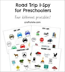 road trip i spy for preschoolers craftulate