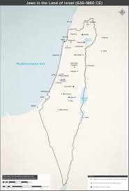Isreal Map Jews In The Land Of Israel 636 1880 Ce