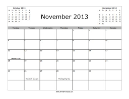 november 2013 calendar free printable allfreeprintable