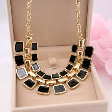 long chain fashion necklace images Trendy chain collar long plated statement necklace for women jpg