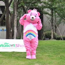 cheer bear pink care bear mascot costume mascot shows