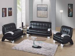 Black Leather Living Room Sets Home Design 89 Wonderful Black And White Sofa Sets