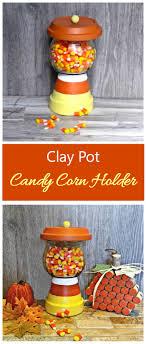 pumpkin candy corn terracotta candy jar easy diy clay pot candy corn holder