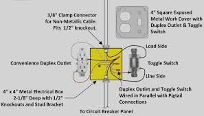wiring a light switch and outlet together diagram images wire a light switch diagram with outlet and how receptacle