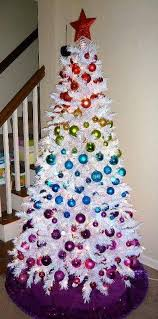 White Christmas Tree Multicolor Decorations by 55 Appealing White Christmas Tree Decorating Ideas For A White