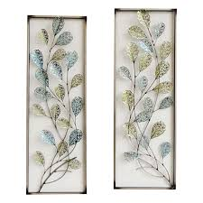 12 x 35 in framed filigree leaf wall décor at home at home