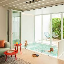 tiny pool small indoor pool nested in a tiny minimalist belgium house founterior