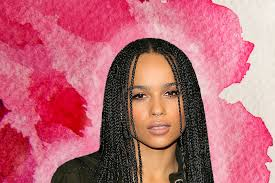 cornrows hairstyle with part in the middle zoe kravitz hairstyles essence com