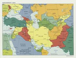 Europe Middle East Map by Map Of Countries In Western Asia And The Middle East Within Of